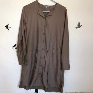 UNIQLO tunic button up shirt dress oversized XS